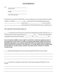 Sample Eviction Notice South Africa Download Them Or Print