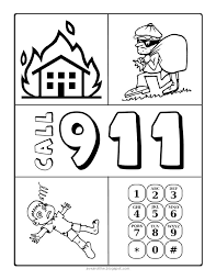 Follow these emergency preparedness steps to prepare for an emergency or disaster with your child's special health care. 911 Coloring Sheet Family Home Evening Lessons Worksheets For Kids Emergency Preparedness Fhe