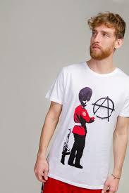 <b>Футболка URBAN CLASSICS Banksy</b> Anarchy Tee (White, M ...