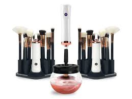 quickly easily clean and dry your makeup brushes in 25 seconds or less
