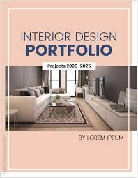 interior design portfolio er pages