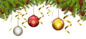 Pine Branches For Decoration Christmas Balls With Pine Branch Decoration Png Clip Art Image