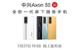 ZTE Axon 30 5G smartphone leaked yet ...