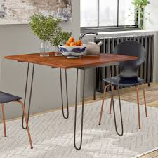 Wrought Studio Parikh Drop Leaf Dining Table With Hairpin Legs