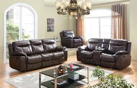 leather reclining sofa and loveseat set details about brown premium leather air fabric reclining sofa set