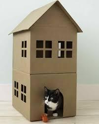 Cat House How To Make A Cardboard Cat Playhouse Martha Stewart
