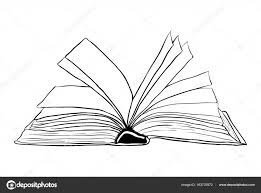 open book outline vector symbol icon design beautiful ilrat stock vector