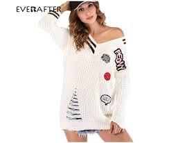 <b>EVERAFTER</b> 2018 Fashion <b>striped</b> v neck sweaters women pullover ...