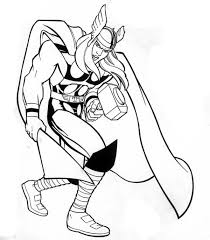 Small Picture Marvel Hero Thor Coloring Page NetArt