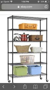 new 6 tier wire shelving unit nsf metal shelf rack 2100 lbs capacity 18 x48 x82
