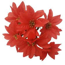 Künstlicher Weihnachtsstern Strauß 30 Cm 7 Blütenköpfe Je Strauß Gold