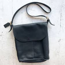 COACH vintage Navy Blue classic Whitney large leather flap hobo bucket bag  with brass buckle hardware!! This gorgeous deep navy blue (hard to capture  in ...