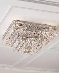 eight light crystal flush mount ceiling fixture