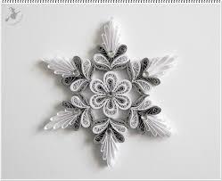 Ezüst Fehér Karácsonyfa Dísz Weihnachten Quilling