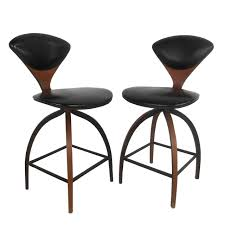 Pair of Mid-Century Modern Plycraft Bar Stools by Norman Cherner ...