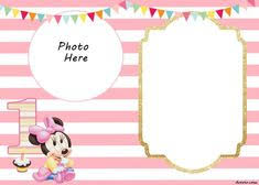 minnie mouse invitation template journal card baby minnie mouse 3x4 photo by pixiespritez
