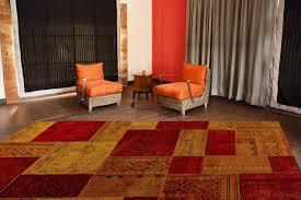 Red Living Room Rug Mat Vintage Renaissance Area Rug Red Orange