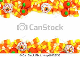 halloween candy clipart border. Brilliant Clipart Halloween Candy Double Border Or Frame Against A White Background   Csp40102135 In Candy Clipart Border