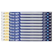 Feit 4 Linkable Led Shop Light Feit Electric 689518 4 Linkable Led Shop Light 10 Pack Walmart Com