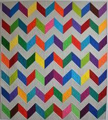 Chevron Quilt Pattern Adorable Create An Easy Chevron Quilt In 48 Simple Steps