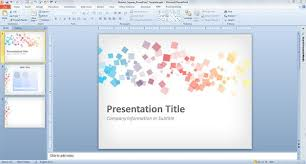 How To Download A Powerpoint Template Free Abstract Squares Powerpoint Template