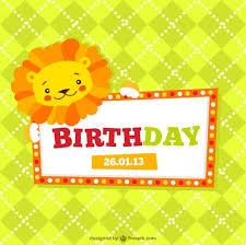 tarjetas de cumplea os para ni as invitación de cumpleaños para niños descargar vectores gratis