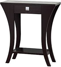 F Cappuccino Finish Console Sofa Entry Table With Drawer