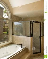 Luxury Bathroom With Jacuzzi And Shower Royalty Free Stock Photo - Bathroom with jacuzzi and shower