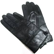 mens black genuine leather gloves mens driving riding everyday use leather gloves hubket