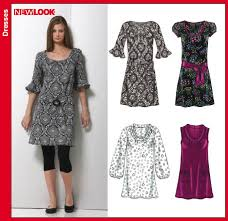 Tunic Sewing Pattern Impressive New Look 48 Misses Dress Or Tunic