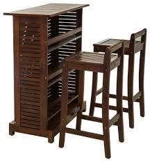 3 piece patio bar set. Brilliant Set Catrina Mahogany Stained Wood Bar Stool 3Piece Set In 3 Piece Patio W