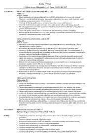 Trainer Resume Sample Operations Trainer Resume Samples Velvet Jobs 46