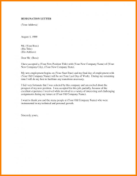 Resignation Of Employment Employee Resign Letter Template Business