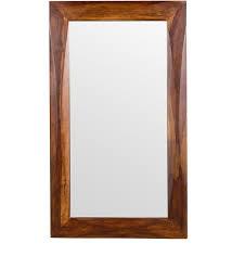mirror frame. Modren Mirror Luna Rectangular Wall Mirror In Solid Wood Frame By Woodsworth Inside