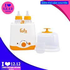 Giảm 13 %】 Máy hâm sữa tiệt trùng 2 bình đa năng Fatz Baby 3012SL BH hãng 1  năm