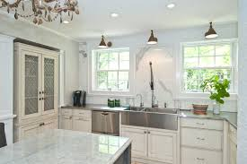 white kitchen counter. Fine Kitchen KitchensWhite Kitchen With White Counter Feat Stainless Steel  Countertop Near Windows Modern And Throughout R