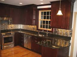 kitchen backsplash ideas for dark cabinets glass