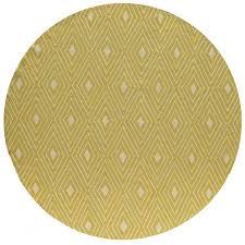 momeni veranda yellow hooked indooroutdoor rug round 9