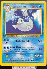 Carte Pokemon LAMANTINE 25/102 Set de Base Wizard Edition 1 FR