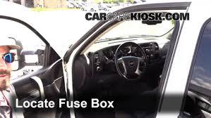interior fuse box location 2007 2014 chevrolet silverado 3500 hd  at 2016 Chevrolet Silverado 3500 How To Remove Fuse Box Panel