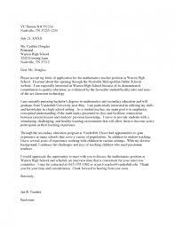 Sample Application Letter For Teaching Position In High School