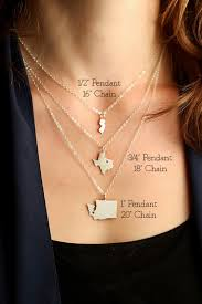 texas state necklace personalized sterling silver gold
