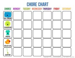 Printable Responsibility Chart For Kids 46 Practical Printable Chore Charts Kittybabylove Com