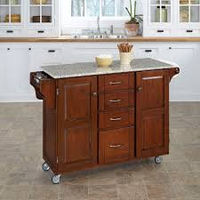 Kitchen Carts With Granite Top Create A Cart Cherry Kitchen Cart With Salt Pepper Granite Top