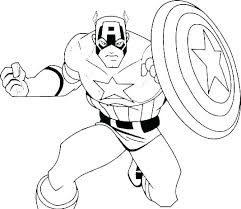 Marvel Coloring Page Marvel Heroes Black And White Marvel Colouring