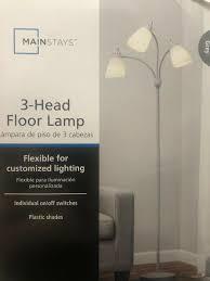 Mainstays 5 Light Floor Lamp Replacement Shades New Grey 3 Head Floor Lamp 3 Light Bulbs With Customize Lighting 5 Feet Tall