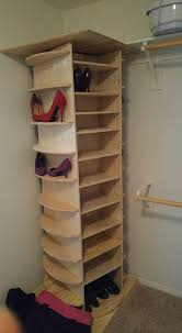 diy lazy susan shoe rack