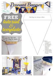 Create A Pennant Banner For Less Than $5 Using Scrapbook Paper And ...