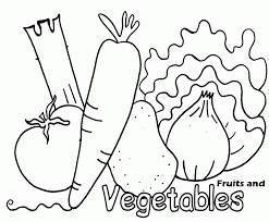 Smart fruits and vegetables coloring pages | crafts and worksheets for preschool free, printable fruit coloring pages are fun for kids! Fruits And Vegetable Coloring Pages Coloring Home