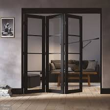 black industrial sliding doors